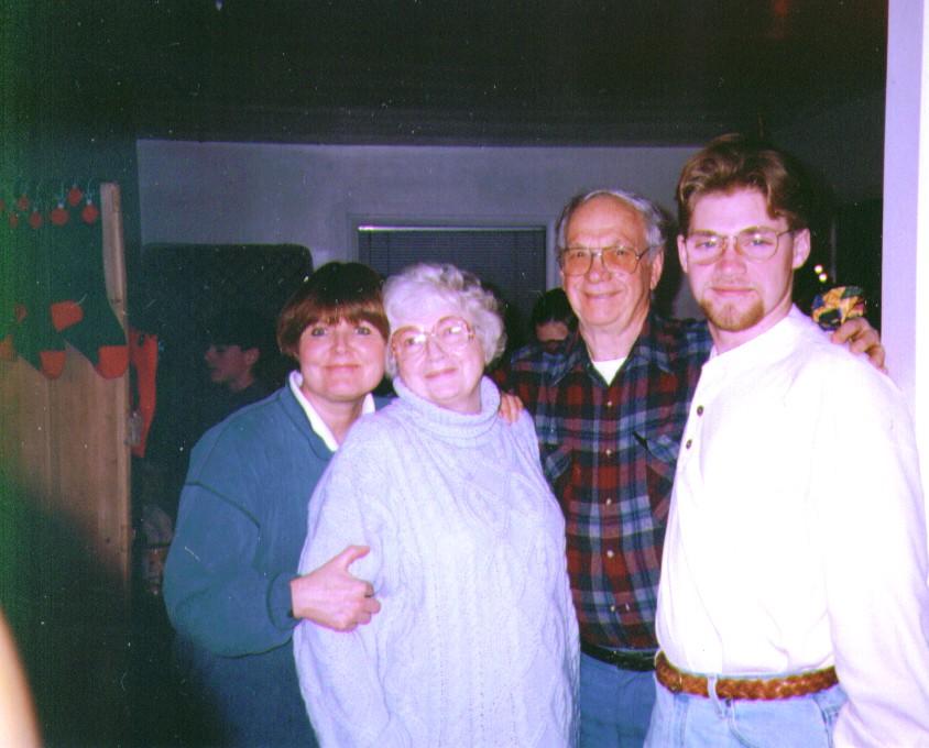 Michelle,Bonnie,Wayne,Nate, Nate's Birthday 1986