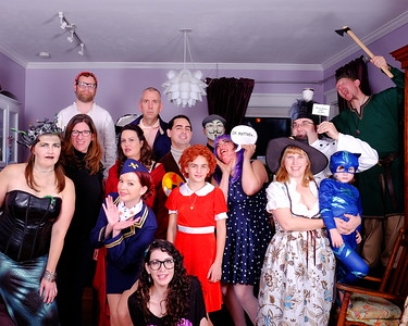 Bungalow Halloween group photo.