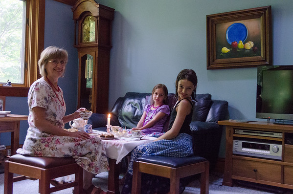 A teaparty with Nana, of course.