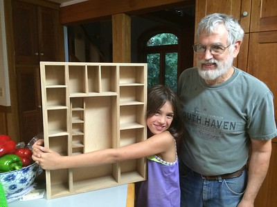 Guen and Papa made this curio cabinet together.