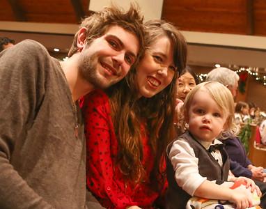 Harrison, Delaney & Cayden attending the Christmas concert