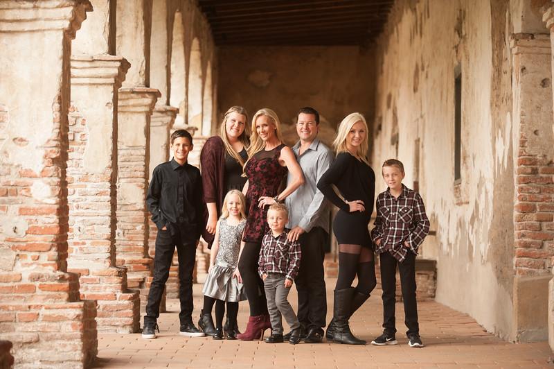 Family Portraits at San Juan Capistrano Mission