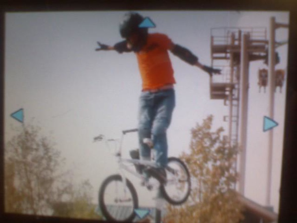 Brian Cunningham on his bmx bike