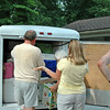 Bobby, Laura, Angila, and Randall lend a hand.<br /> We don't eat until Bobby has finished cooking.