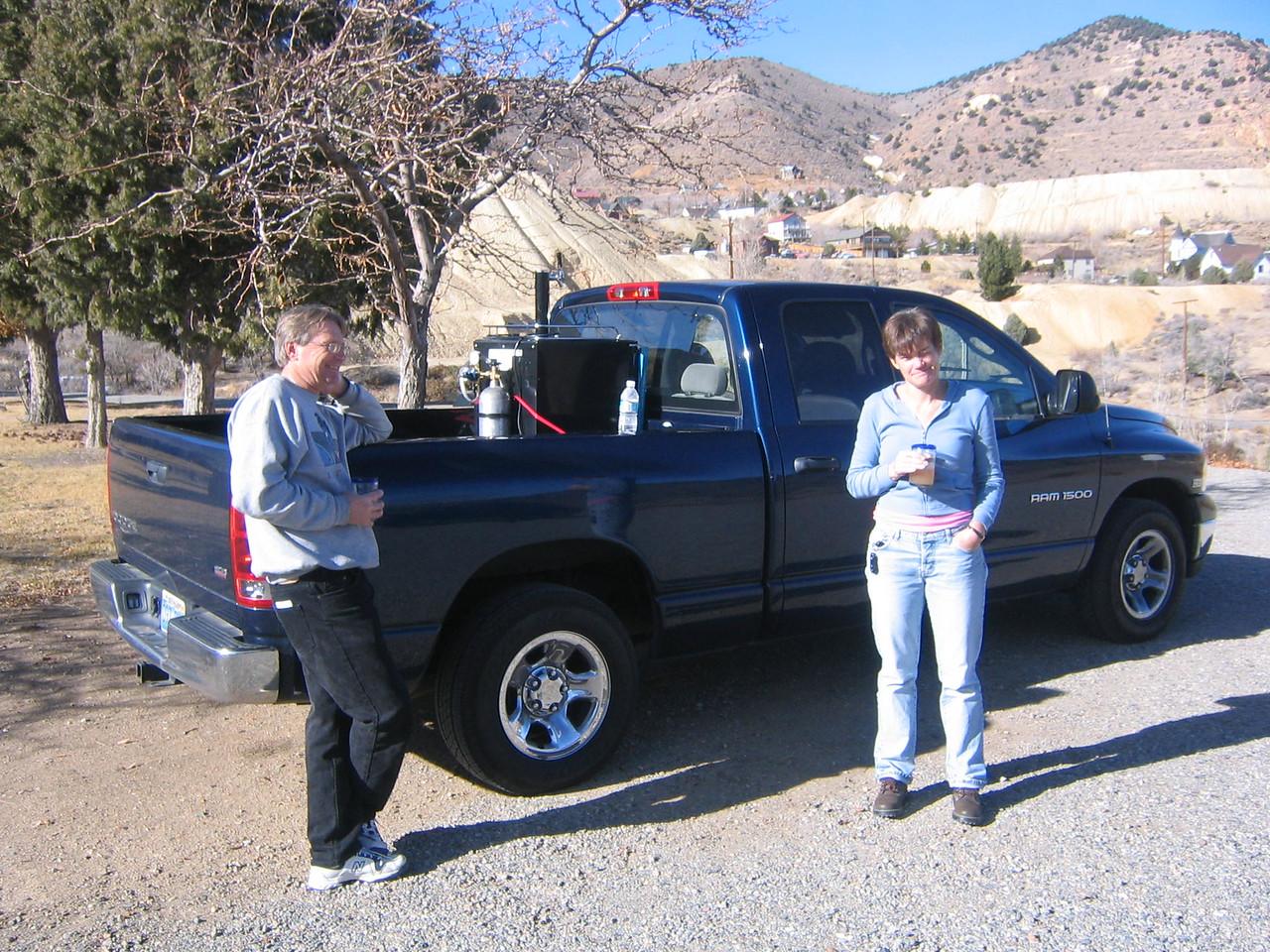VALUED CARGO -- Patrick and MJ ensure no damage ocurred during transit.