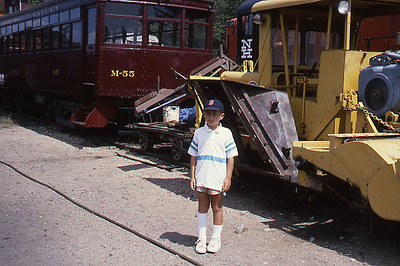 Peter on trip with Bill at the Valley Railroad in Essex, CT in 1988