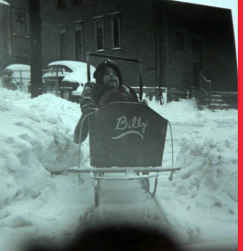 Bill in his Sled
