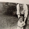 Papa with Bill in Back Yard at Cedar Street