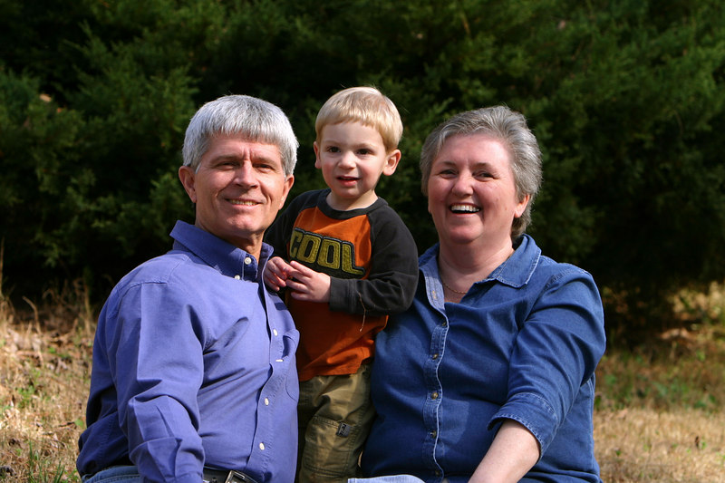 My brother, Dave, his grandchild Owen, and his wife, Brenda