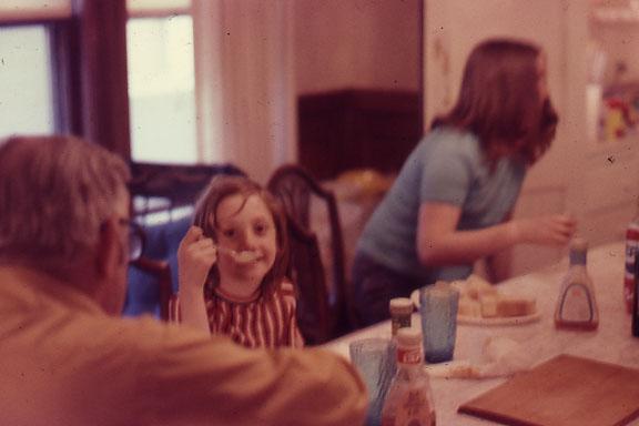 Duggan girls at Hollis Street, back of Dad's head
