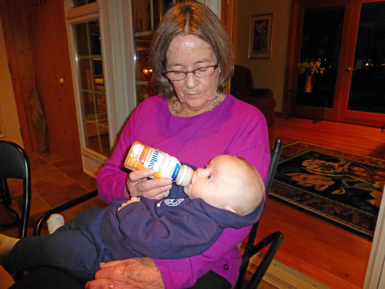 Mary Feeding Jack Thanksgiving 2015