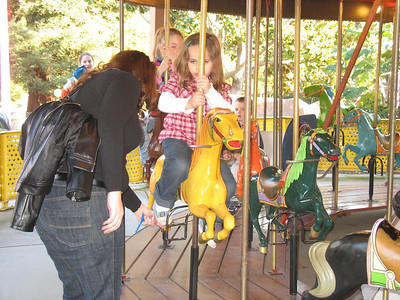 Saddling up for the merry-go-round.