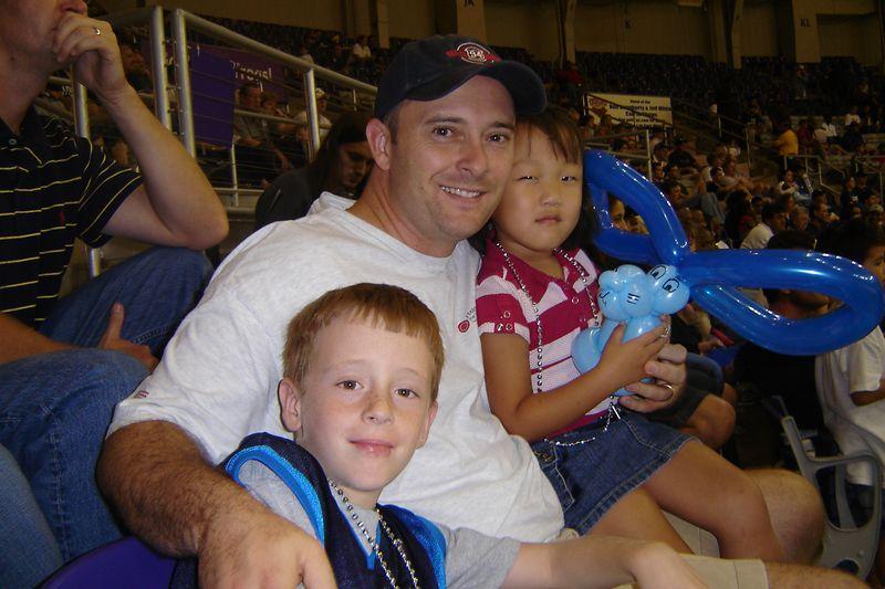 At the Dallas Mavericks scrimmage