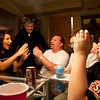 Hanging out at the Lawlor house ad playing cards during Thanksgiving in Oak Forest, Illinois on November 25, 2010.  (Jay Grabiec)