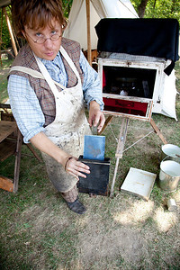 A visit to the Lincoln Log Cabin for a Tintype photography demonstration with Steve Ingram in Lerna, Illinois on August 29, 2010.  (Jay Grabiec)