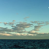 It was a lovely evening on Georgia Strait.  The small amount of wind was in our face so we kept motoring along.  The moon made an appearance in the evening sky.