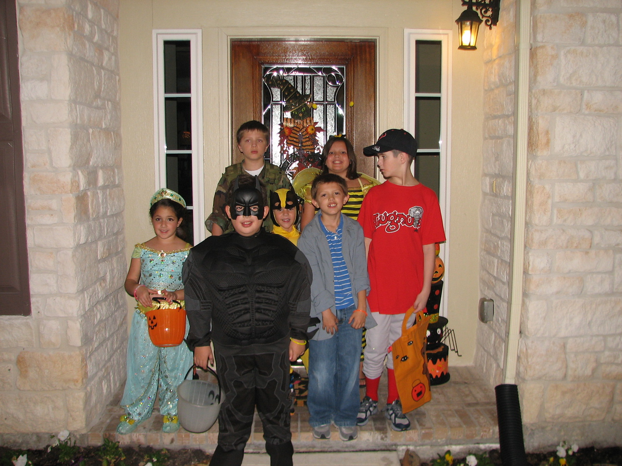 Halloween  night 2012.  With the Heisner kids and the Kaye kids.