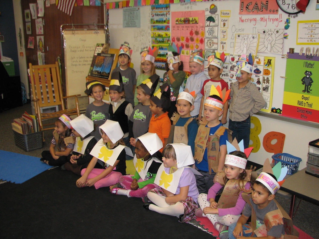 Kindergarten Thanksgiving program