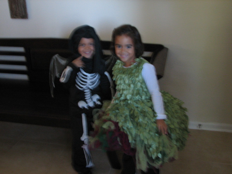 Gabe and Anna welcoming us to their annual Halloween party.