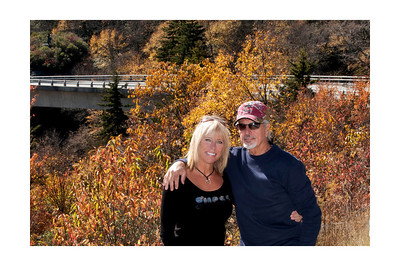 Pat and Cindy in front of Linn Cove Viaduct