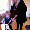 Theo gets his first bike with Grandma Annie