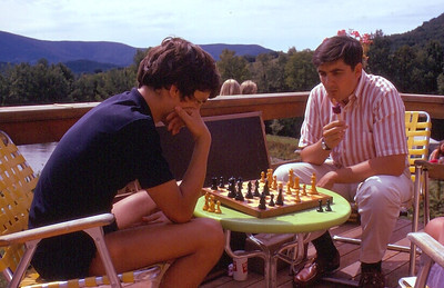 Maybe Tim Buechner (?) and Bill Ludwin hard at a chess game