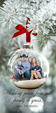 4x8 Photo Card - Frosted Glass Ornament