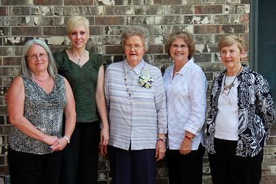 Wilma with her four daughters-in-law.