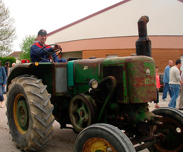 My brother Didier & his collection of old tractors