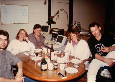 Luc en Californie (1989): fete chez Danielle