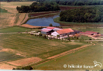 Ferme St Louis (photo taken from an helicopter)