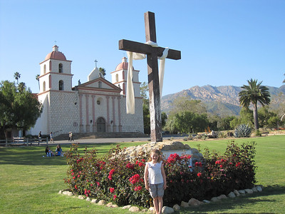 In front of the Santa Barbara Mission