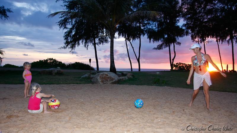 Soccer Mom at Sunset in Phuket, Thailand