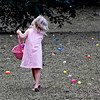 Peyton in an Easter Egg Hunt