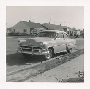 Our 1954 Chevrolet (Phyllis never learned to drive it because it had a stick shift)