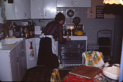 Phyllis in the kitchen