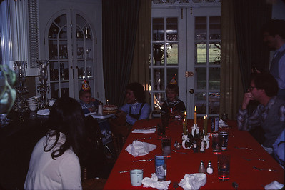 Todd's First Birthday at Doris and Dennis's--1981