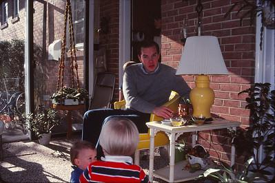 Jim, Todd, and Mark at Doris and Dennis's house
