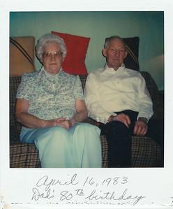 April 16, 1983--Dad's 80th birthday