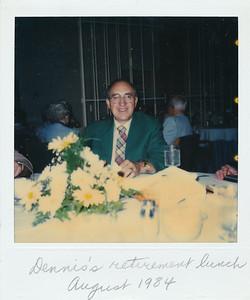 Dennis's retirement lunch--August 1984