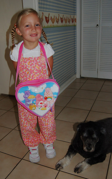 Of course, school is not complete without a nice, new backpack.  Boo was thoroughly impressed.