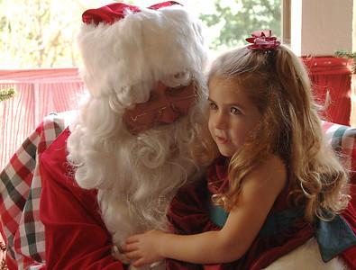 Lauren and Santa