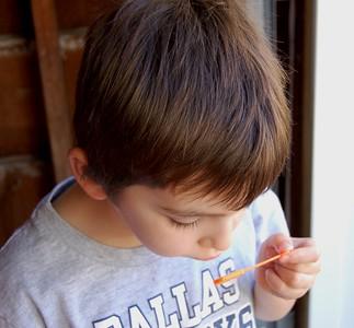 patrick blowing bubbles