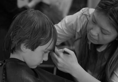 patrick gets a haircut