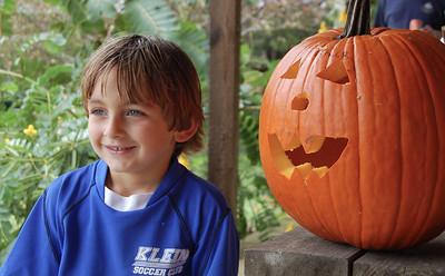 Patrick and his pumpkin