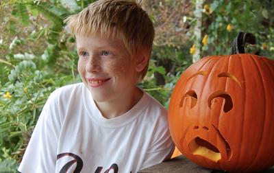 Steven and the pumpkin