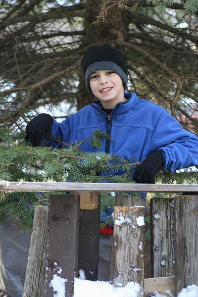 IMG_3781 Ian and snow fort