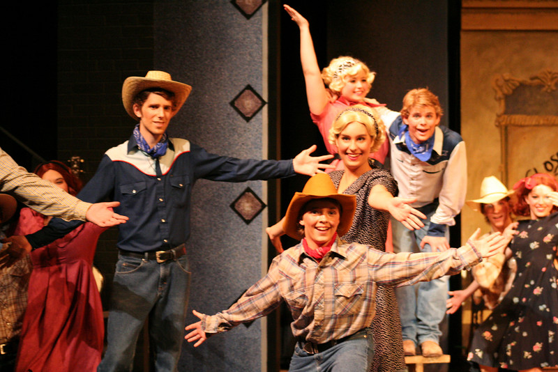Erich is a bit of a theater geek.  He's in the front in the yellowish hat.