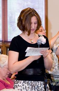 "Tracy reading ""A Good Wedding Cake"" Recipe"