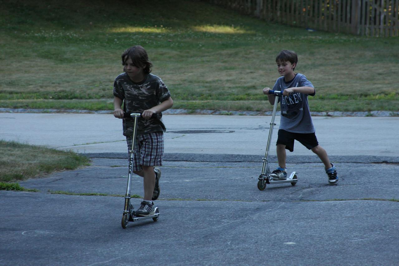 IMG4_12867 Brian, John driveway scooters